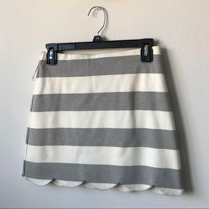 Mini scalloped skirt